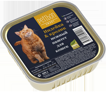 Заказать Petibon Smart / Консервы для кошек Паштет Индейка & Кролик Цена за упаковку по цене 840 руб