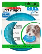 "Заказать Petstages / игрушка для собак Mini ""ОРКА летающая тарелка"" 15 см по цене 300 руб"
