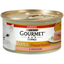 Gourmet Gold Melting Heart / Консервы Гурме Голд для кошек Нежная начинка с Лососем (цена за упаковку)