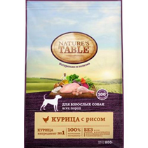 Natures Table / Сухой корм Нейчерс Тейбл для взрослых собак Курица с рисом