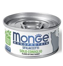 Monge Сat Monoprotein / Консервы Монж Монопротеиновые для кошек Хлопья Кролика (цена за упаковку)