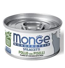 Monge Cat Monoprotein / Консервы Монж Монопротеиновые для кошек Хлопья Курицы с горошком (цена за упаковку)