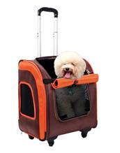 Заказать Ibiyaya Liso Сумка-тележка для животных весом до 10 кг Коричневая / оранжевая по цене 7620 руб