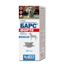 АгроВетЗащита Барс Форте / Спрей Инсектоакарицидный для собак