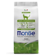 Monge Cat Adult Monoprotein / Сухой корм Монж Монопротеиновый для взрослых кошек Кролик