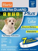 Hartz Puppy Ultra Guard Plus Collar / Ошейник Инсектоакарицидный Хартц для Щенков (обхват шеи до 38 см) Белый