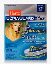 Заказать Hartz Dog & Puppy Ultra Guard Plus Collar / Ошейник Инсектоакарицидный для собак и щенков (обхват шеи до 56 см) со Светоотражающей полосой Белый по цене 830 руб