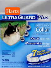 Заказать Hartz Cat & Kitten Ultra Guard Plus Collar / Ошейник для котят и кошек Инсектоакарицидный Белый по цене 890 руб