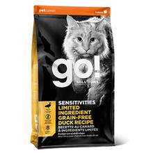 GO! Sensitivity Limited Ingredient Grain Free Duck Recipe / Сухой Беззерновой корм Гоу для Котят и кошек с Чувствительным пищеварением свежая Утка