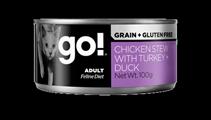 Заказать GO! Grain Free Chicken Stew with Turkey  +  Duck CF / Беззерновые консервы для кошек Тушеная Курица Индейка Утка Цена за упаковку по цене 720 руб