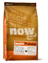 NOW Natural holistic Fresh Senior Recipe Grain Free 24 / 10 / Сухой корм Нау Фреш Беззерновой Контроль веса для Пожилых и Взрослых собак с Избыточным весом Индейка Утка Овощи