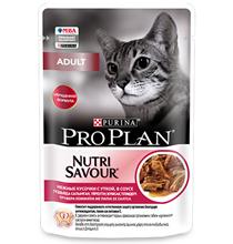 Purina Pro Plan Cat NutriSavour Adult Duck / Паучи Пурина Про План для Взрослых кошек старше 1 года Утка в соусе (цена за упаковку)