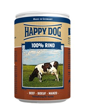 Happy Dog 100% Rind / Консервы Хэппи Дог для собак Монобелковые Говядина (цена за упаковку, Германия)
