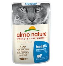 Almo Nature Functional Sterilised with Code / Паучи Алмо Натюр для Стерилизованных кошек Треска (цена за упаковку)
