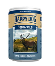 Happy Dog 100% Wild / Консервы Хэппи Дог для собак Монобелковые Дичь (цена за упаковку, Германия)