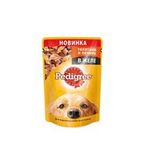 Заказать Pedigree / Паучи для взрослых собак Телятина и печень в желе Цена за упаковку по цене 470 руб