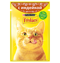 Friskies / Паучи Фрискис для кошек с Индейкой (цена за упаковку)