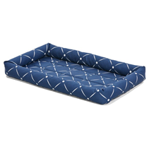 MidWest QuietTime Couture Ashton Bolster Bed / Лежанка Мидвест для собак Серо-коричневая