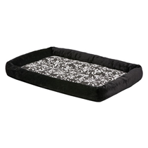 MidWest Quiet Time Couture Sofia Bloster Crate Pad Black Floral / Лежанка Мидвест для собак Плюш Черная