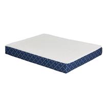 Заказать MidWest Quiet Time Couture Paxton Reversible Pad Лежанка для собак Ортопедическая двусторонняя Флис / Текстиль Синяя по цене 1600 руб