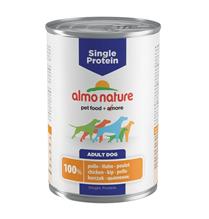 Заказать Almo Nature Single Protein Chicken / Консервы для собак с Чувствительным пищеварением Монобелковый рацион с Курицей (цена за упаковку) по цене 4220 руб