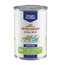 Заказать Almo Nature Single Protein Turkey / Консервы для собак с Чувствительным пищеварением Монобелковый рацион с Индейкой (цена за упаковку) по цене 4220 руб
