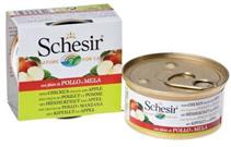 Schesir Консервы для Кошек Цыпленок / яблоко (цена за упаковку)