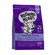 Meowing Heads Smitten Kitten / Сухой корм Меовинг Хэдс для Котят 'Восторженный котенок' Курица рис