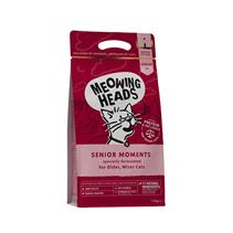 Meowing Heads Senior 7+ Senior Moments / Сухой корм Меовинг Хэдс для кошек старше 7 лет 'Мудрые года' Лосось яйцо