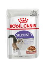 Royal Canin Sterilised / Влажный корм (Консервы-Паучи) Роял Канин Стерилайзд для взрослых кастрированных котов и Стерилизованных кошек в Соусе (цена за упаковку)