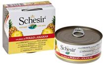 Schesir / Консервы Шезир для собак Цыпленок Ананас (цена за упаковку)