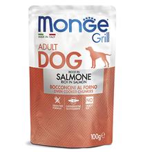 Monge Dog Grill Salmon / Влажный корм Паучи Монж Гриль для взрослых собак Лосось (цена за упаковку)