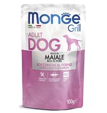 Monge Dog Grill Pork / Влажный корм Паучи Монж Гриль для взрослых собак Свинина (цена за упаковку)