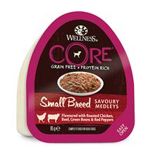 Wellness Core Dog Small Breed Savoury Medleys Chicken Beef / Консервы Велнес Кор для собак Мелких пород Курица Говядина запеченая с зеленой фасолью и красным перцем (цена за упаковку)