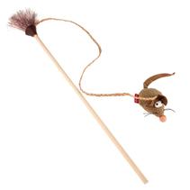 GiGwi Cat Feather teaser Eco Line / Игрушка Гигви для кошек Дразнилка с мышкой