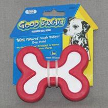 Заказать JW Good Breath Rubber Bone Medium / Игрушка для собак Косточка с ароматом мяты каучук по цене 360 руб