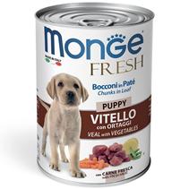 Monge Puppy Fresh Chunks in Loaf Veal with Vegetables / Влажный корм Консервы Монж для Щенков Мясной рулет с кусочками Телятины и овощами (цена за упаковку)