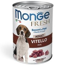Monge Dog Fresh Adult Chunks in Loaf Veal / Влажный корм Консервы Монж для взрослых собак Мясной рулет с Телятиной (цена за упаковку)