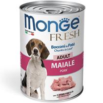 Monge Dog Fresh Adult Chunks in Loaf Pork / Влажный корм Консервы Монж для взрослых собак Мясной рулет со Свининой (цена за упаковку)