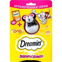 Dreamies / Лакомство для кошек Подушечки с Курицей Лакомая мышка