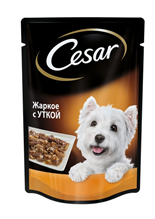 Заказать Cesar / Паучи Цезарь для собак Жаркое с уткой (цена за упаковку) по цене 690 руб