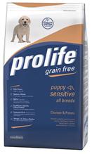 Заказать Prolife Puppy Sensitive Grain Free All breeds Chicken & Potato / Сухой Беззерновой корм для Щенков всех пород с Чувствительным пищеварением Курица картофель по цене 1430 руб