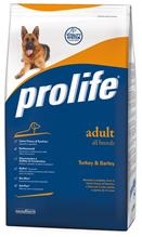 Заказать Prolife Adult All Breeds Turkey & Barley / Сухой корм для взрослых собак всех пород  Индейка ячмень по цене 660 руб