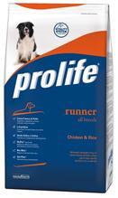 Заказать Prolife Runner All Breeds Chicken & Rice / Сухой корм для Активных собак всех пород Курица рис по цене 1900 руб