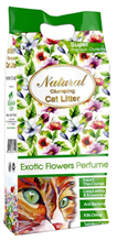 Заказать Indian Cat Litter Natural Exotic Flowers / Комкующийся наполнитель для кошачьего туалета Бентонитовый Экзотические цветы по цене 430 руб