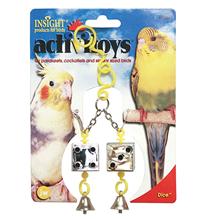 JW Dice / Игрушка для птиц Кубики зеркальные с колокольчиками пластик