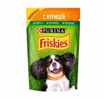 Friskies / Паучи Фрискис для собак с Курицей (цена за упаковку)