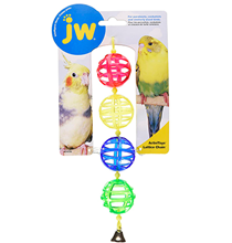 JW Activitoys Lattice Chain / Игрушка для птиц Цепочка из решетчатых шариков с колокольчиком пластик