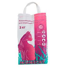 Homecat / Комкующийся наполнитель Хоумкэт для кошачьего туалета