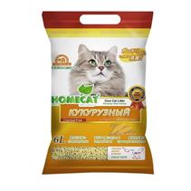 Homecat / Комкующийся наполнитель Хоумкэт Эколайн для кошачьего туалета Кукурузный